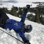 Ski fall requiring chiropractic care